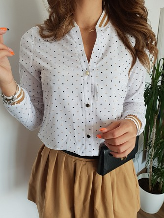 koszula sonia brown dots white